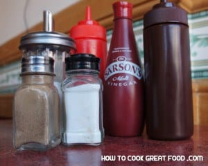 How To Cook Great Food - HTCG british cooking english food - salt pepper vinegar